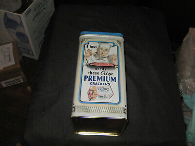 PREMIUM SALTINE CRACKER TIN