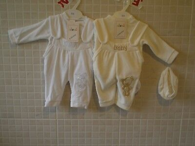 Baby Clothes Boy Romany Style Dungarees 0-3 months 3-6 months 6-9month velour