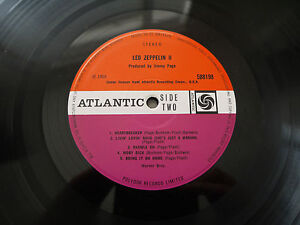 LED ZEPPELIN 2-ORIG UK PLUM 1969 ATLANTIC LP MINT!!!!!