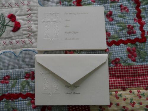 NEW 5 Birth Announcement 5X7 Cards Embossed  By Crane Plus 6 Extra Cards