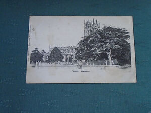 1903 CHURCH GRESFORD - WREXHAM DENBIGHSHIRE POSTCARD - GOOD POSTMARKS