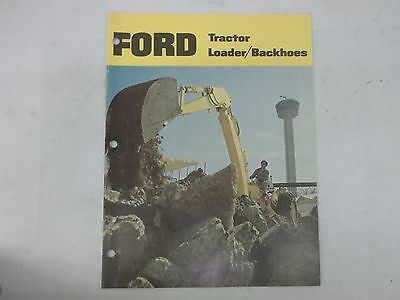 Ford Model 4500 4400 3500 3400 Integral Loader Backhoe Sales Brochure
