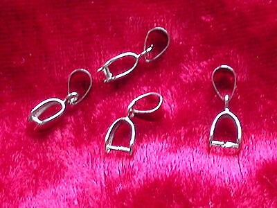 10 Collierschlaufen - Anhängerschlaufen 5 x 13 mm Silber