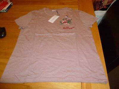 BNWT Women's Jacqueline de Yong T Shirt Pink Large Brand New With Tags JDY