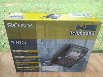 Vintage Nos Sony It-m804 4-line Corded Business Phone Wspkrphn Jogdial Nvr Used