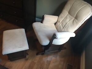 Sleigh Glider Chair and Ottoman