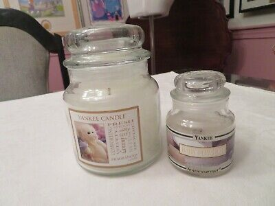 2 - VELVETY SOFT Yankee Candle Jars Candle Baby Powder - Teddy Bear