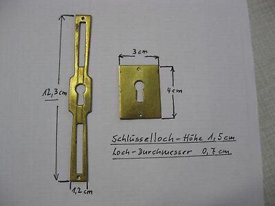 Schlüsselloch-Beschläge,Messing massiv,antik,Original,2 Stück, Schrank,Vertiko
