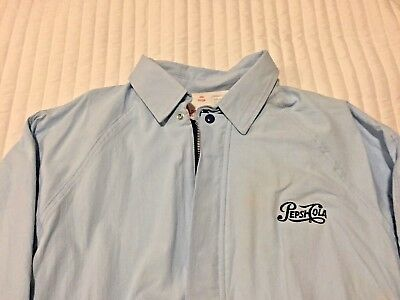 PEPSI * Blue Pepsi Cola Jacket * Mid-Weight * MADE IN THE USA * Size: Large