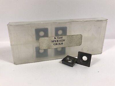 K-tool Speb 422f New Carbide Inserts Grade X20 6pcs