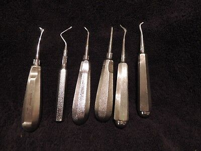 Assorted Dental Surgical Elevators Lot Of 6 Used
