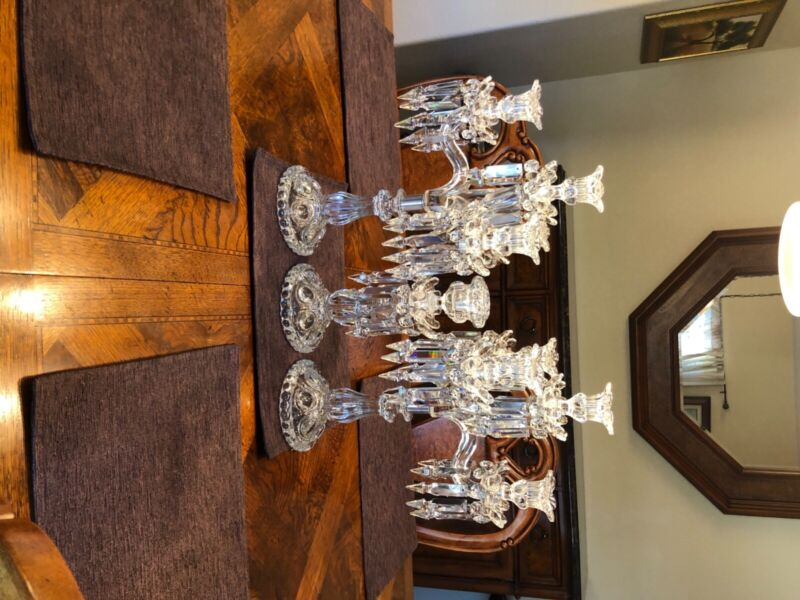 Antique French Baccarat Crystal Candelabra