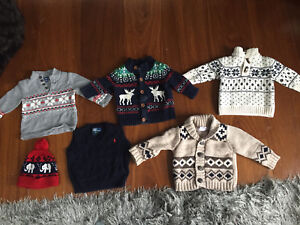 Winter/Christmas Sweater lot: 6-12 month