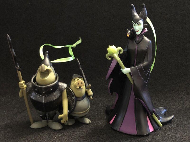 Disney Villain Maleficent with Staff & Diablo on Shoulder & Minions Set