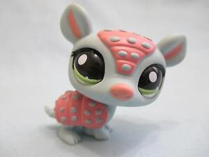Littlest Pet Shop #1736 Blue Pink ARMADILLO W/ Green Eyes 100% Authentic