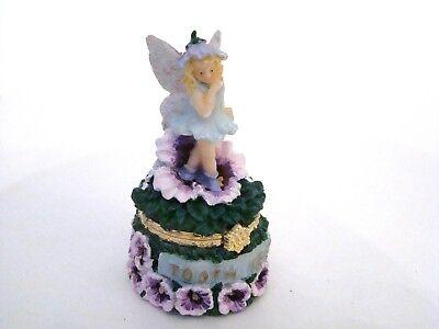 Tooth Keeper Hinged Box  - Flower Fairy Pansies Tooth Keeper Trinket (Tooth Keeper)