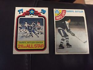1978 Darryl Sittler player card and All Star Game card