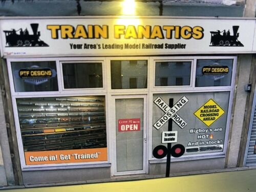 """S Scale Scratch Built """"TRAIN STORE"""" Building Flat w/LED ? American Flyer 2"""