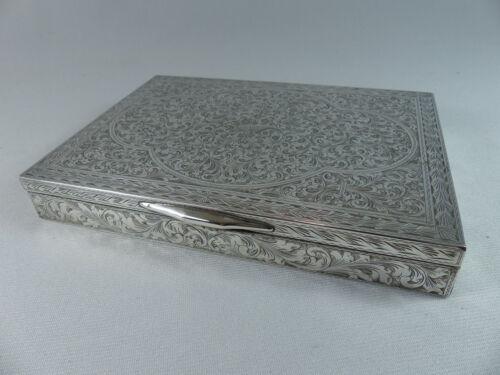Vintage Mid Century Fancy Ornate 800 Italian Silver Box Jewelry Trinket Cigar