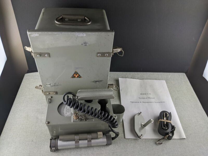 HDER G-01 Geiger Counter with Manual