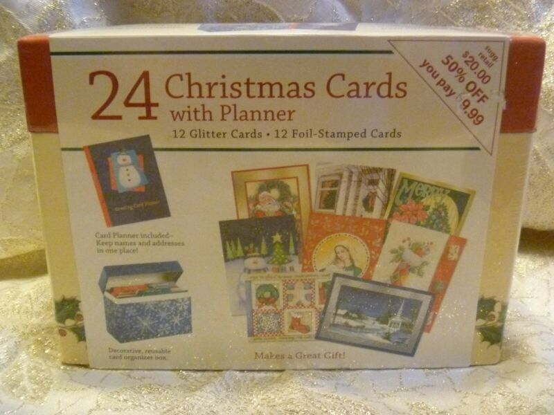 Paper Magic Group 24 Christmas Cards With Planner & Box