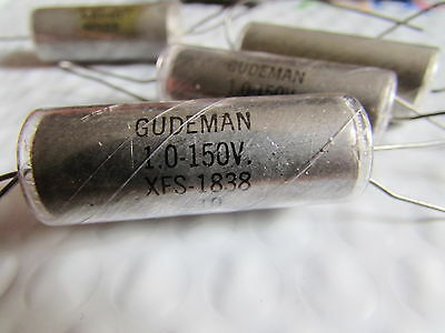 Gudeman 1.0uf 150v Paper In Oil Tone Capacitor Xfs1838-10 New Old Stock Look