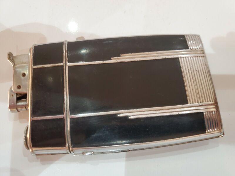 VINTAGE Evans Working Cigarette Case Trig A Lite Lighter Silver, Enamel  3059/16