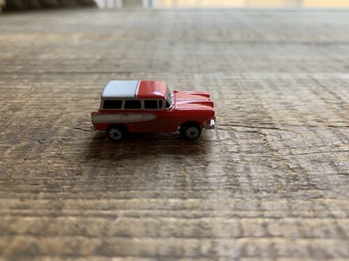 Micro Machines Woody Station Wagon Vintage Red Panel - $0.99