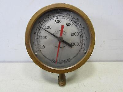 Vintage Brass Fred S Carver Pressure Gauge