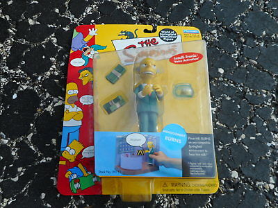 2000 MIP Simpsons action figure PLAYMATES - MONTGOMERY BURNS (Montgomery Burns)