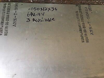 Titanium Sheet 6al-4v Mill Timet 0.50. X 12 X 36
