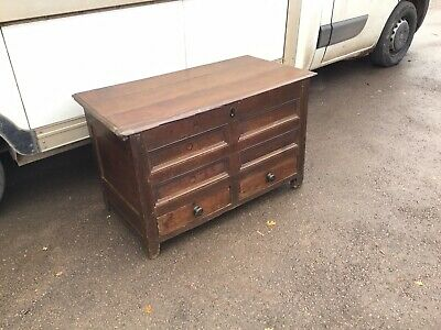 Period Oak Mule Chest, Antique Oak Coffer, Blanket Box, Rustic Furniture,