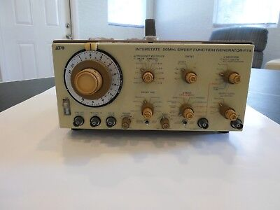 Interstate Ifc F-74 F74 20mhz Sweep Function Generator