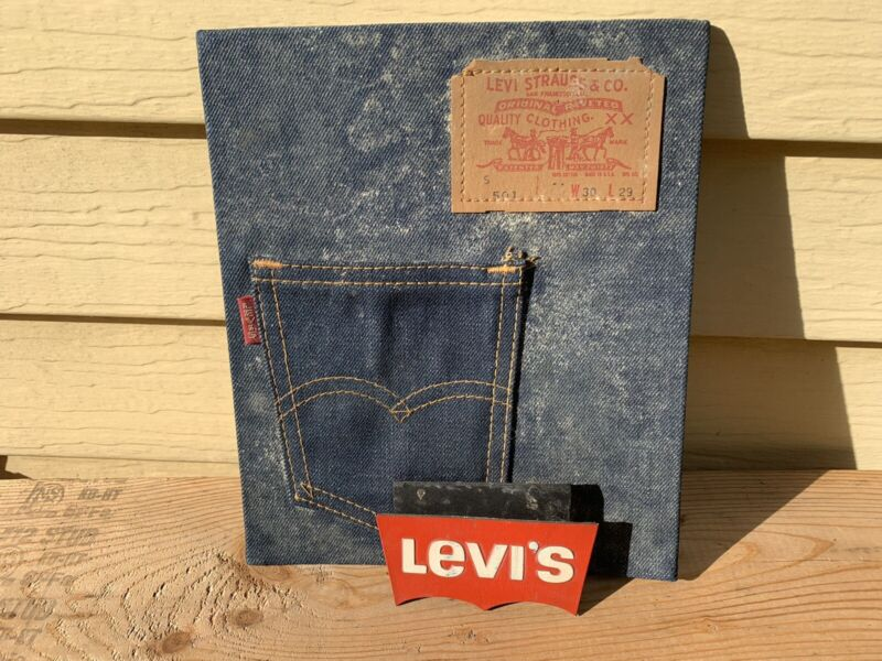Levi Strauss Vintage Picture Levi's Jeans 501 Advertising Sign by Smith Pacific