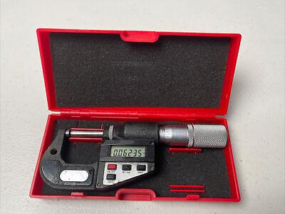 Starrett 0-1 Outside Digital Micrometer No. 734xfl Electronic Case