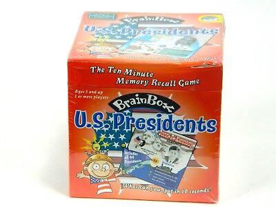 Brain Box Memory Game - Brain Box: U.S. Presidents Ten Minute Memory Recall Game MindWare Ages 8+ Sealed