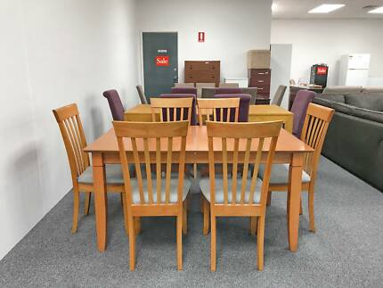 TODAY DELIVERY 7 pcs EXTENDABLE SOLID WOODEN dining table & chair