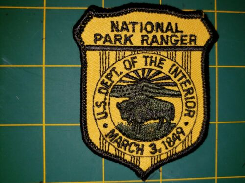 DEPARTMENT OF INTERIOR NATIONAL PARK RANGER POLICE PATCH FOREST DNR RESOURCES US