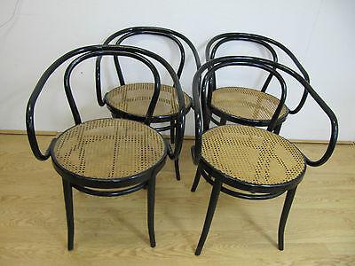 4 Holzstühle Stuhl Geflecht Kaffeehaus Antik Thonet (?) Wiener Geflecht Antik