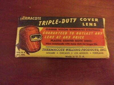Antique Advertisment Collectible Thermacote Triple Duty Cover Lens Welding