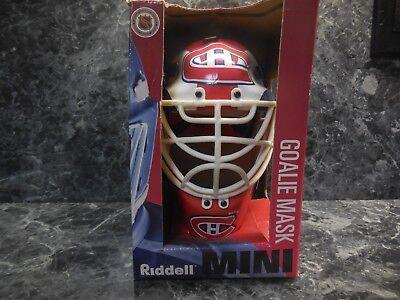 1 montreal canadiens riddell mini goalie mask