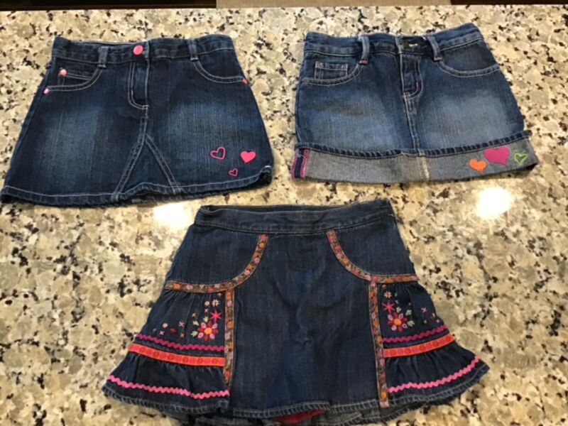 Lot of Girls Jean Skirts by Gymboree and Crazy 8, Size 4T