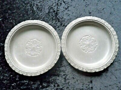 Pair Of Early 20th Century Pewter Dishes By Kayserzinn, Number 4923.