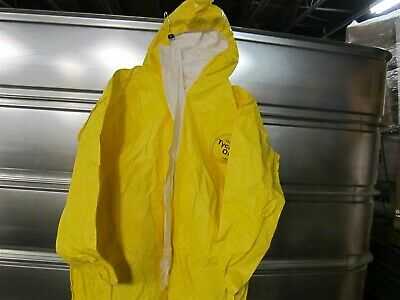 12 Dupont Tychem Qc Coveralls Attached Hood Boots Elastic Wrists Serged Seam 5x