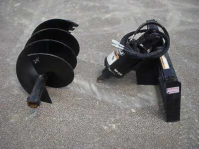 Bobcat Skid Steer Attachment - Lowe Bp210 Round Auger With 24 Bit - Ship 199