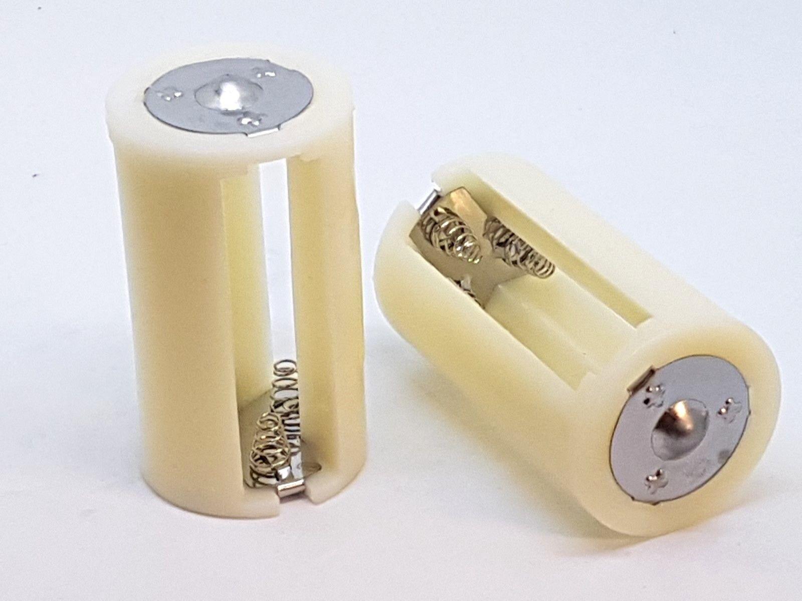 2 x Batterie Adapter für  3 x AA 1,5V  Batterien oder Akku bis D
