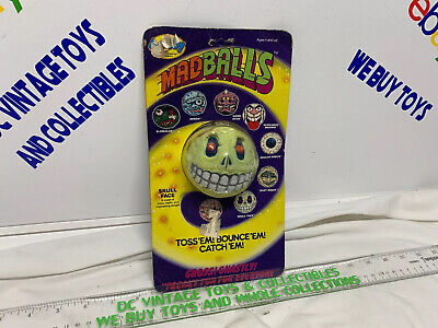 1985 MADBALLS Series1 toy Skull Face ball head figure Rare In Package Moc
