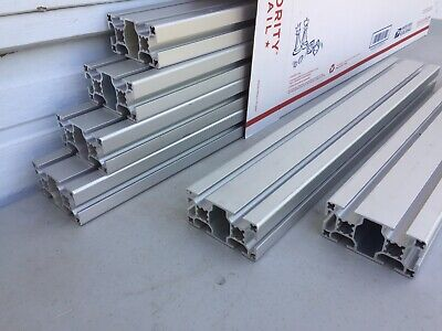 Lot Of 6 Maytec T-slot Aluminum Extrusion - 40mm X 80mm 19 - 8020 Type