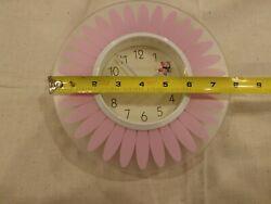 STERLING & NOBLE PURPLE PINK BUTTERFLY FLOWER WALL CLOCK