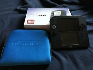 Mint Nintendo 2DS + Box + Case + Preloaded with Smash4 for Sale!